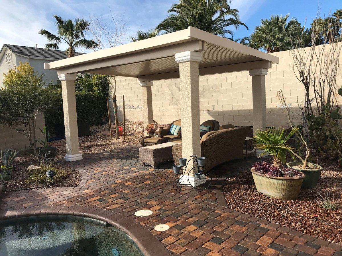 Stucco Frestanding Ultra Patios Patio Cover Las Vegas