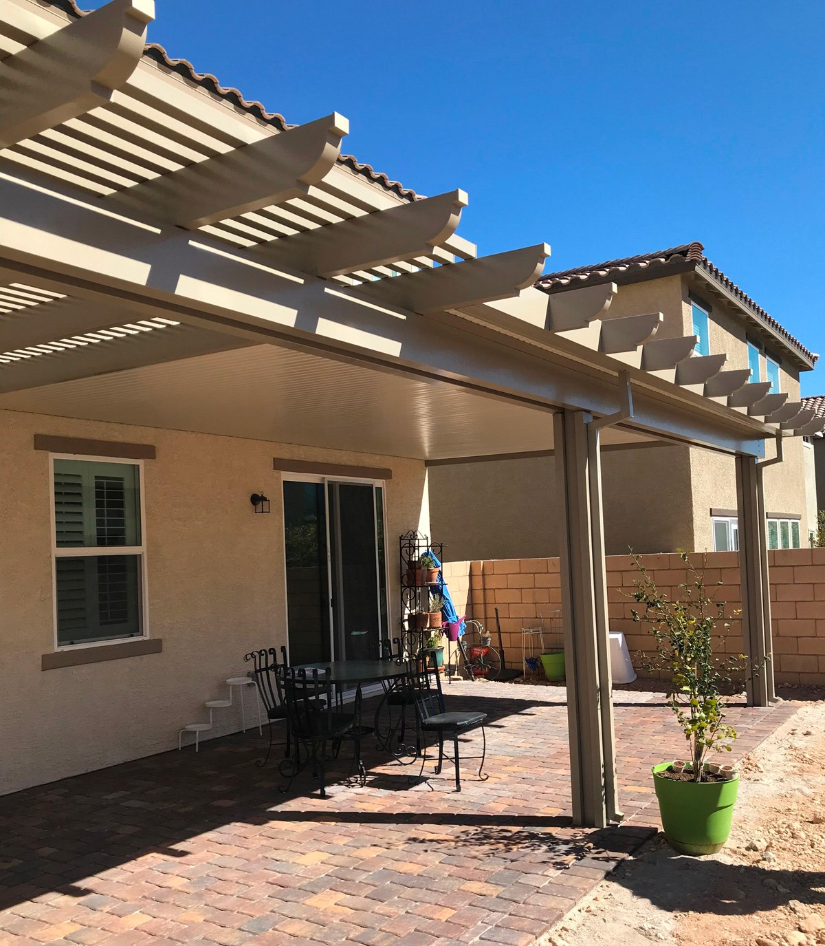 Ultra Patios Solid Lattice Combination Las Vegas Patio Cover